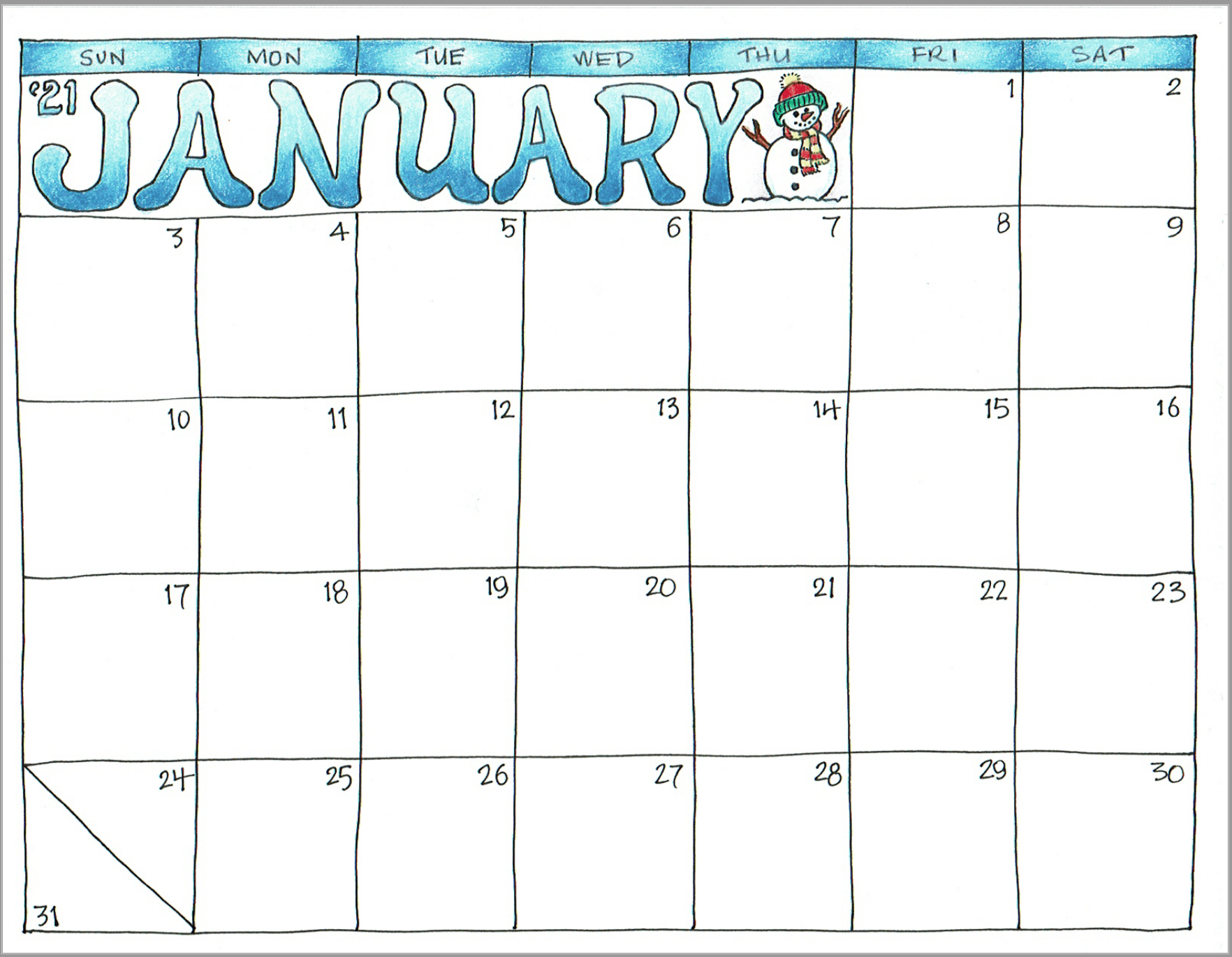 2021 Scrapbook Calendar - April