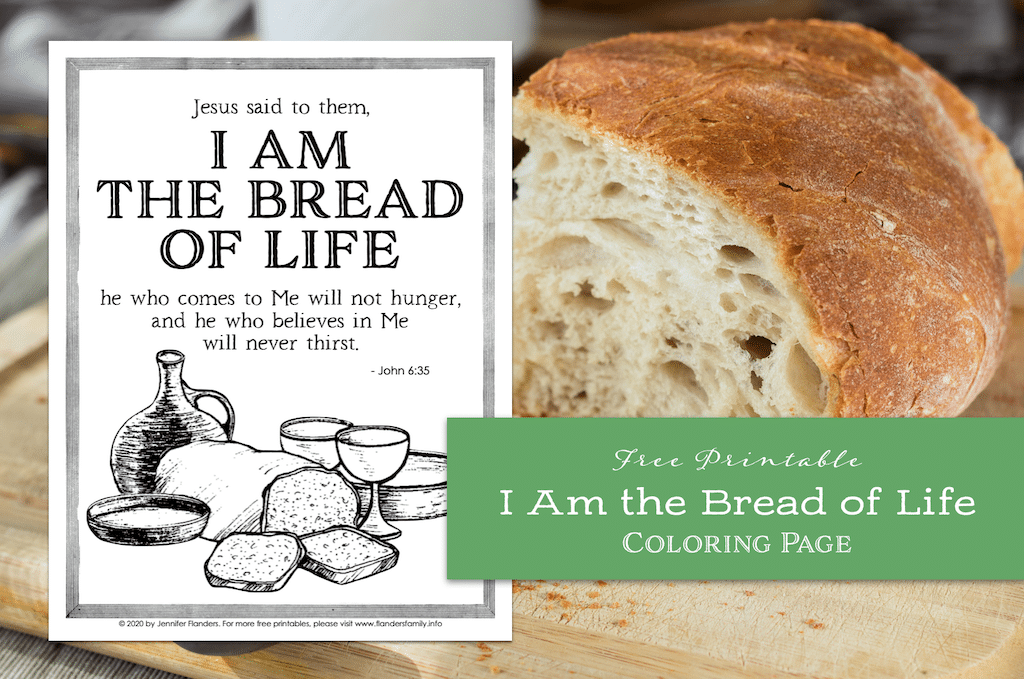 I Am the Bread of Life Coloring Page