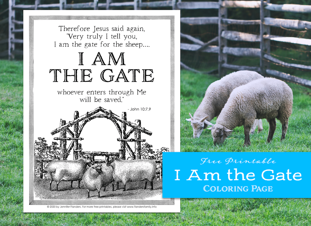 I Am the Gate Coloring Page