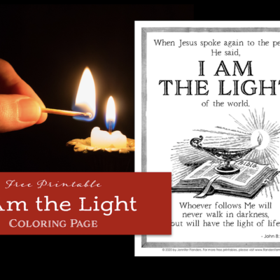 "Jesus said, ""I Am the Light"""