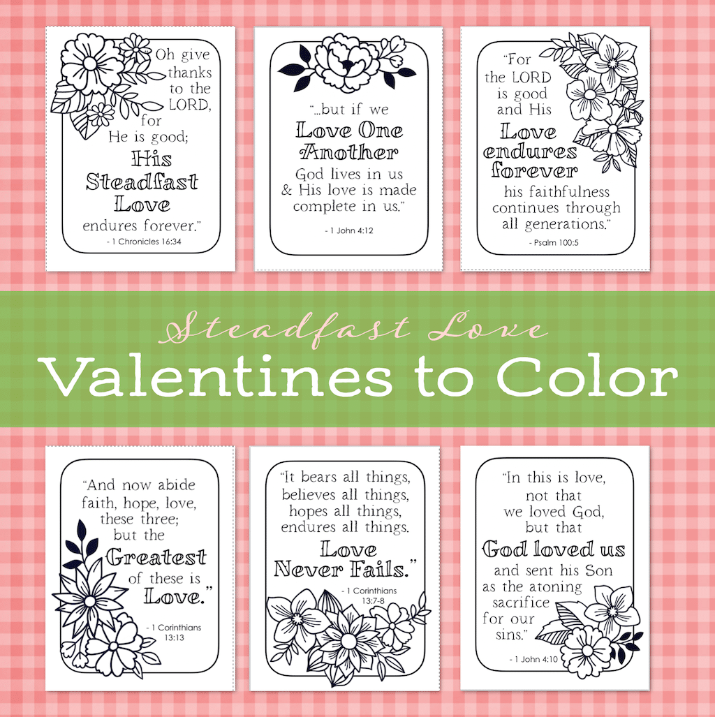 Valentines to Color