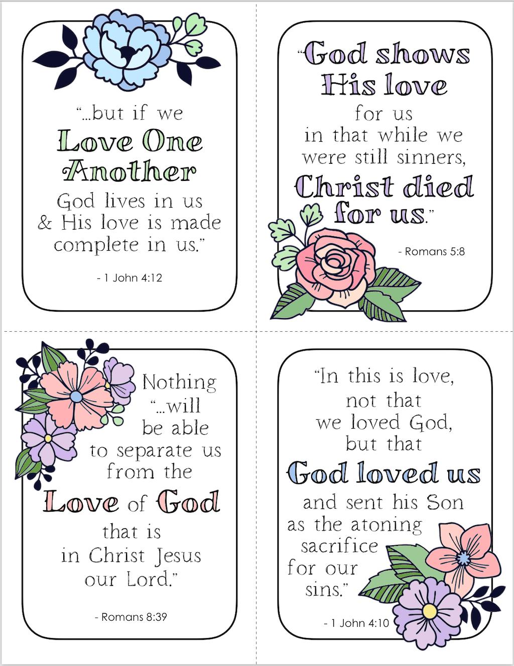 Free Printable Steadfast Love Valentines
