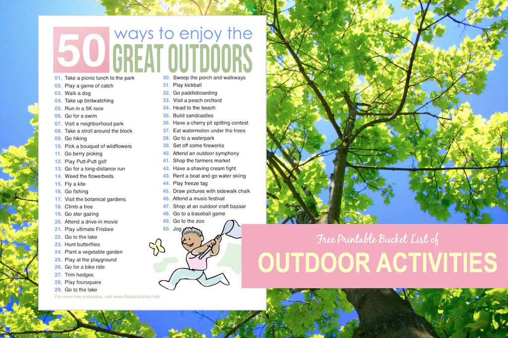50 Ways to Enjoy Great Outdoors