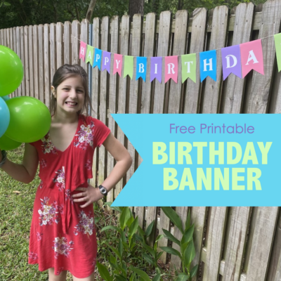 Free Happy Birthday Pennant Banner