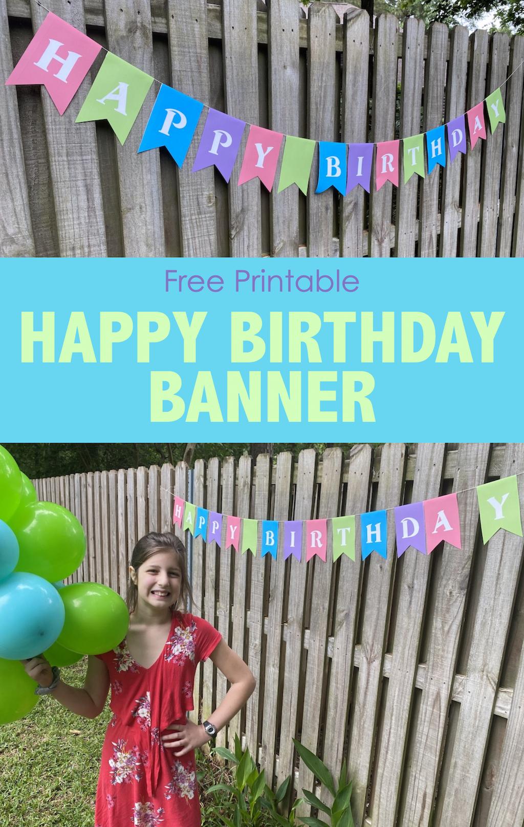 Free Happy Birthday Pennant Banner