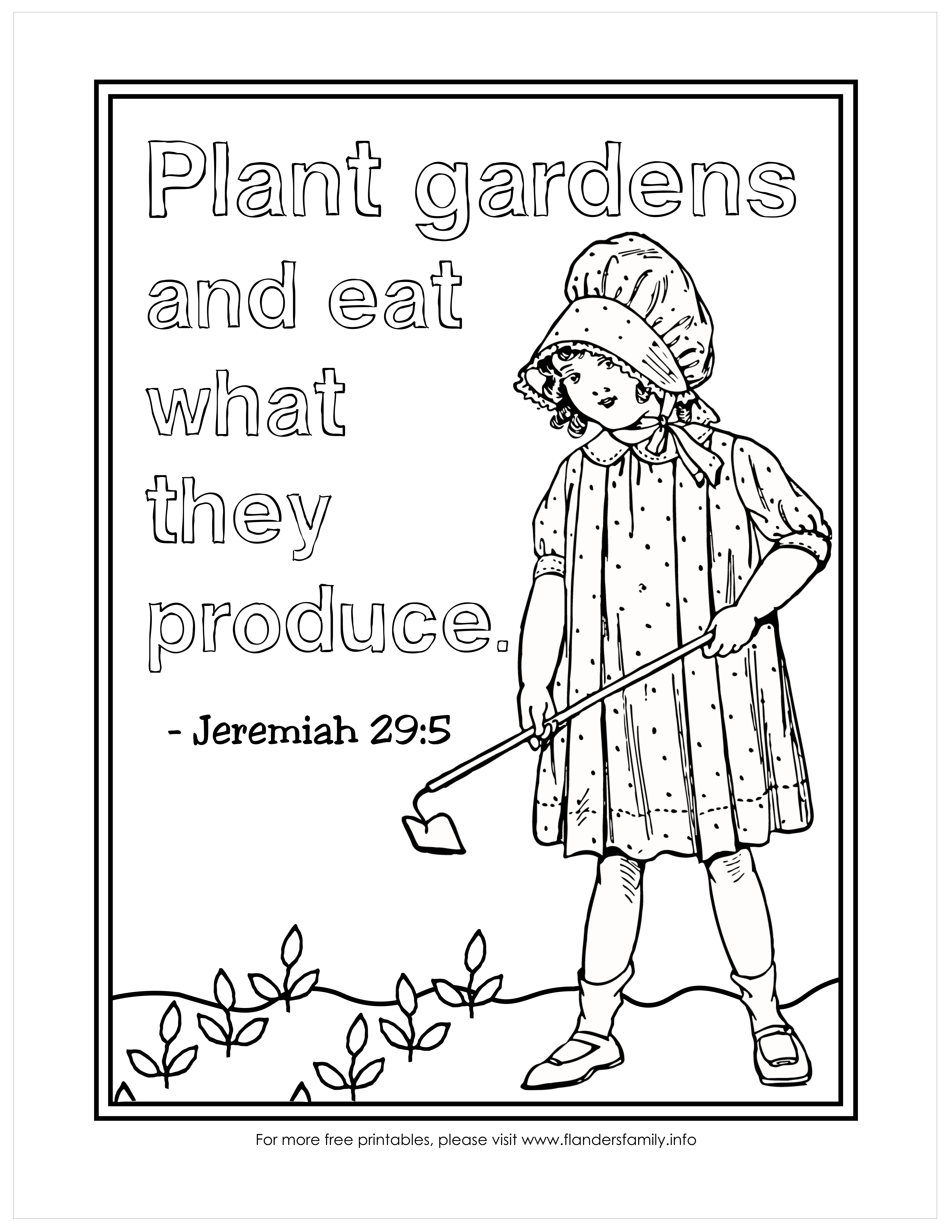 Plant a Garden Coloring Page