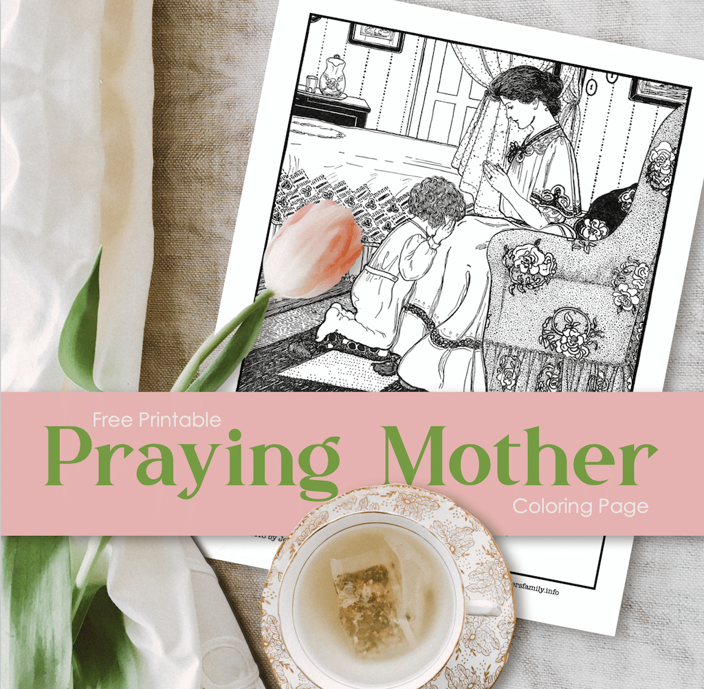 Praying Mother Coloring Page