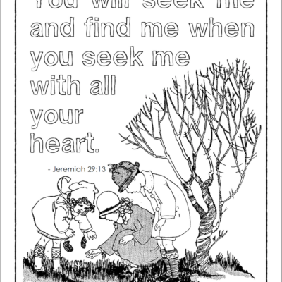 Seek Me and Find Me Coloring Page