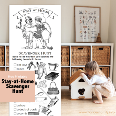 Stay-at-Home Scavenger Hunt (Free Printable)