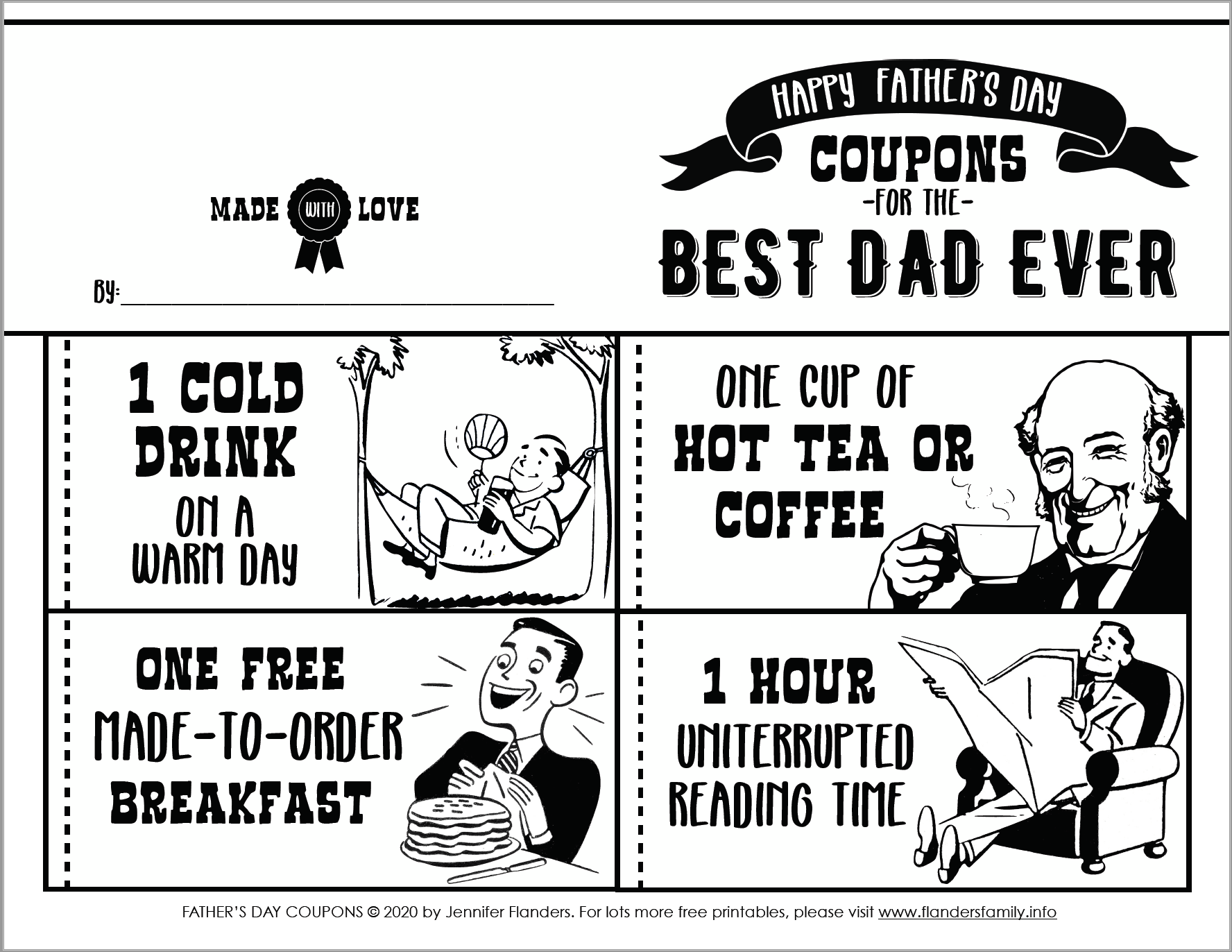 Free Printable Coupon Book for Father's Day