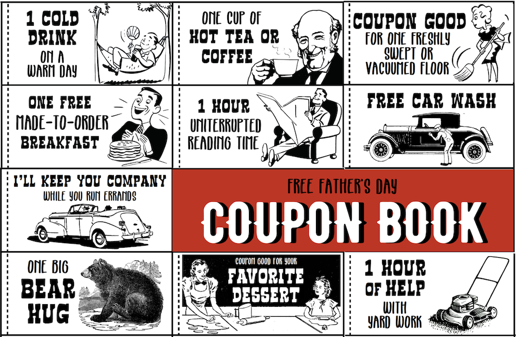 Father S Day Coupon Book Free Printable Flanders Family Homelife