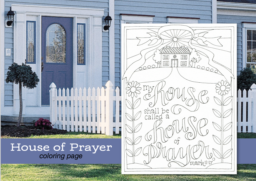 House of Prayer Coloring Page