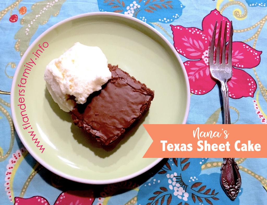 Nana's Texas Sheet Cake