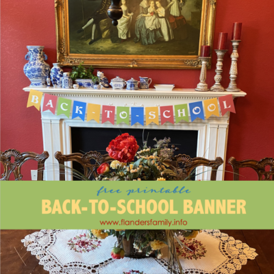 Back-to-School Banner (Free Printable)