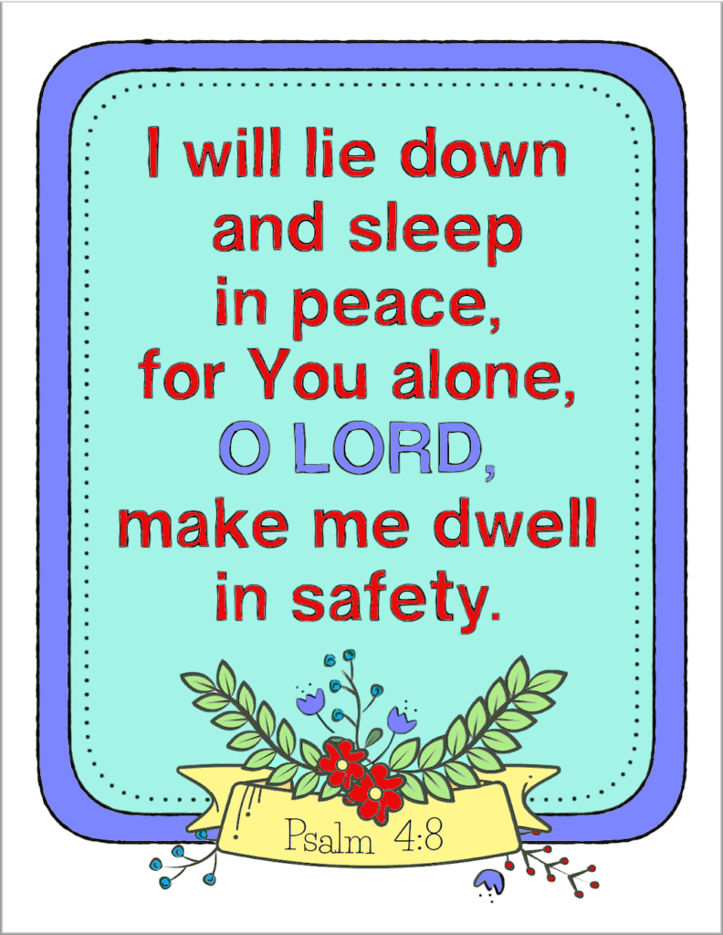 I Will Lie Down and Sleep Coloring Page - Color
