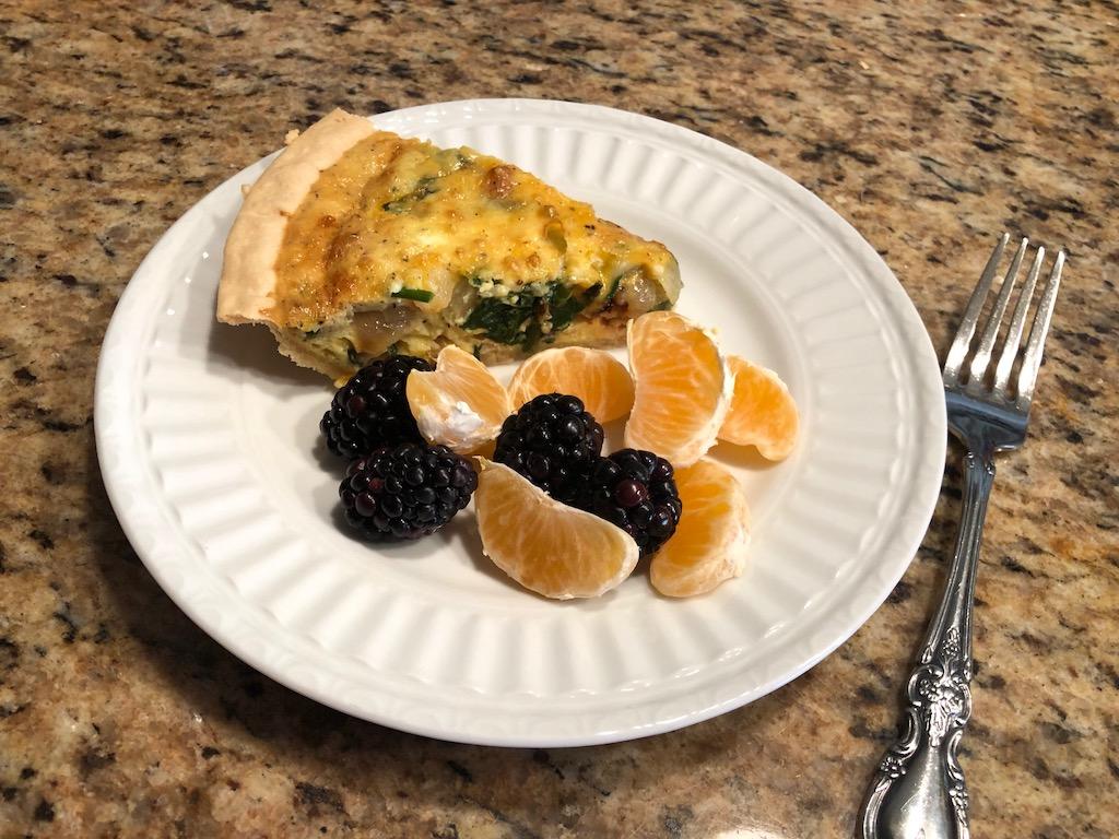 Spinach and Turkey Quiche