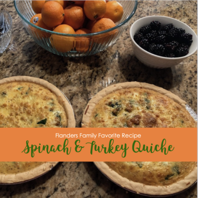 Spinach and Turkey Quiche with Onions