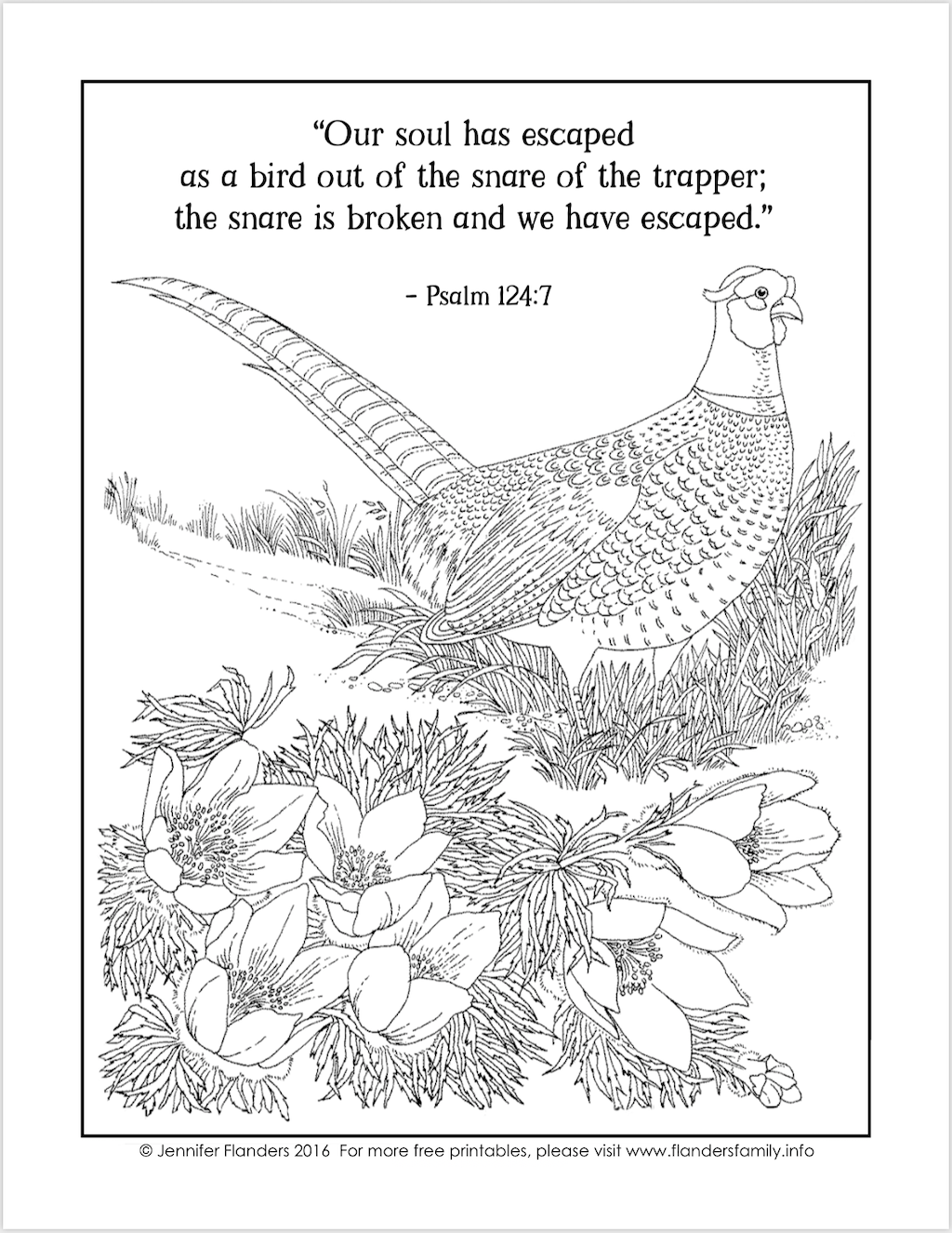 Our Soul has Escaped Coloring Page