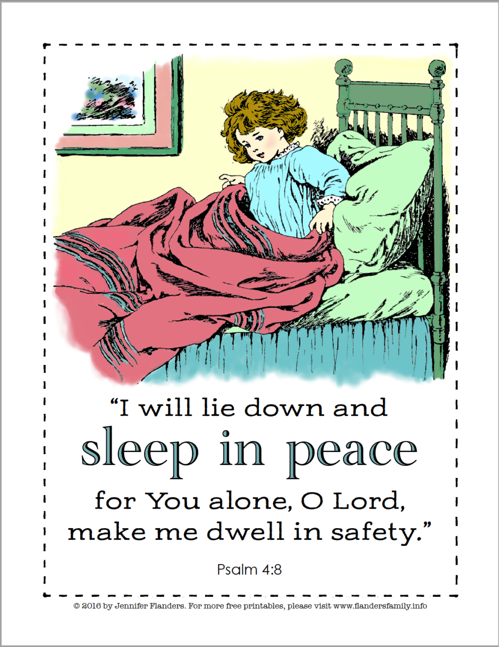Sleep in Peace Coloring Page