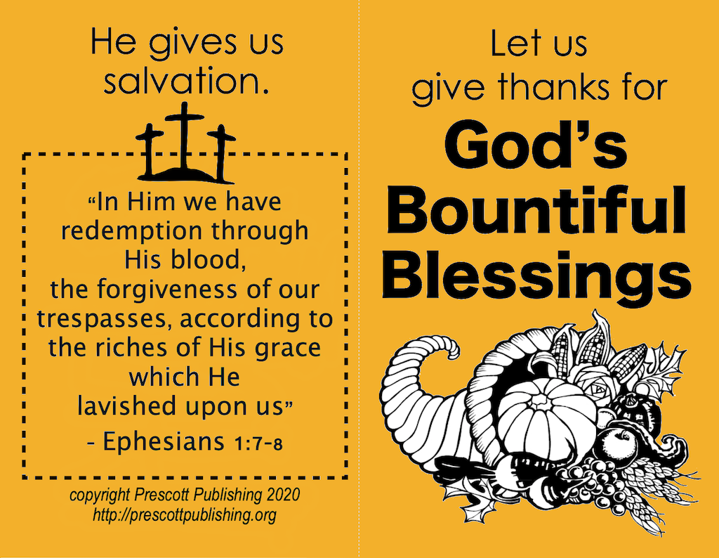Bountiful Blessings (Thanksgiving Tract)