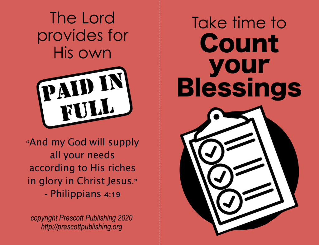 Count Your Blessings (Thanksgiving Tract)