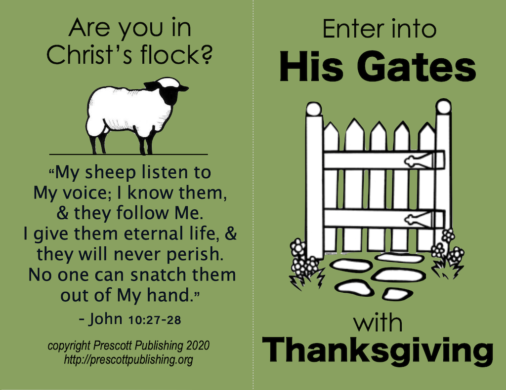 Enter His Gates (Thanksgiving Tract)