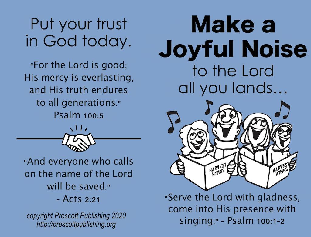 Make a Joyful Noise (Thanksgiving Tract)