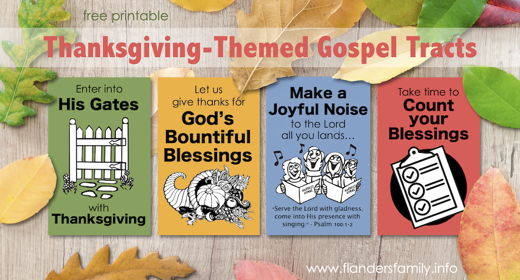 Gospel Tracts for Thanksgiving