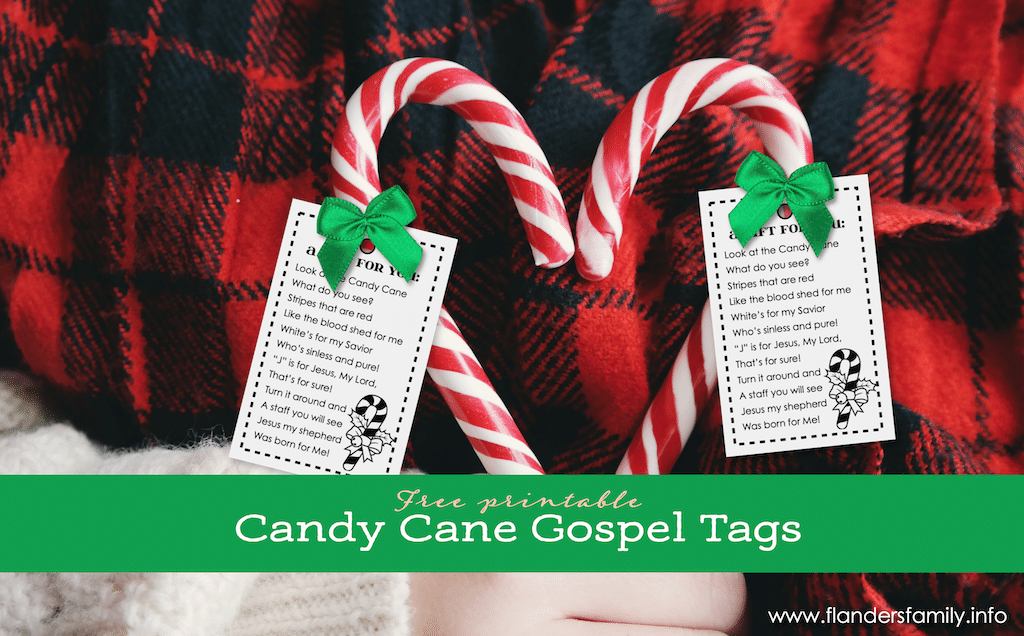 Candy Cane Gospel Tags - FB