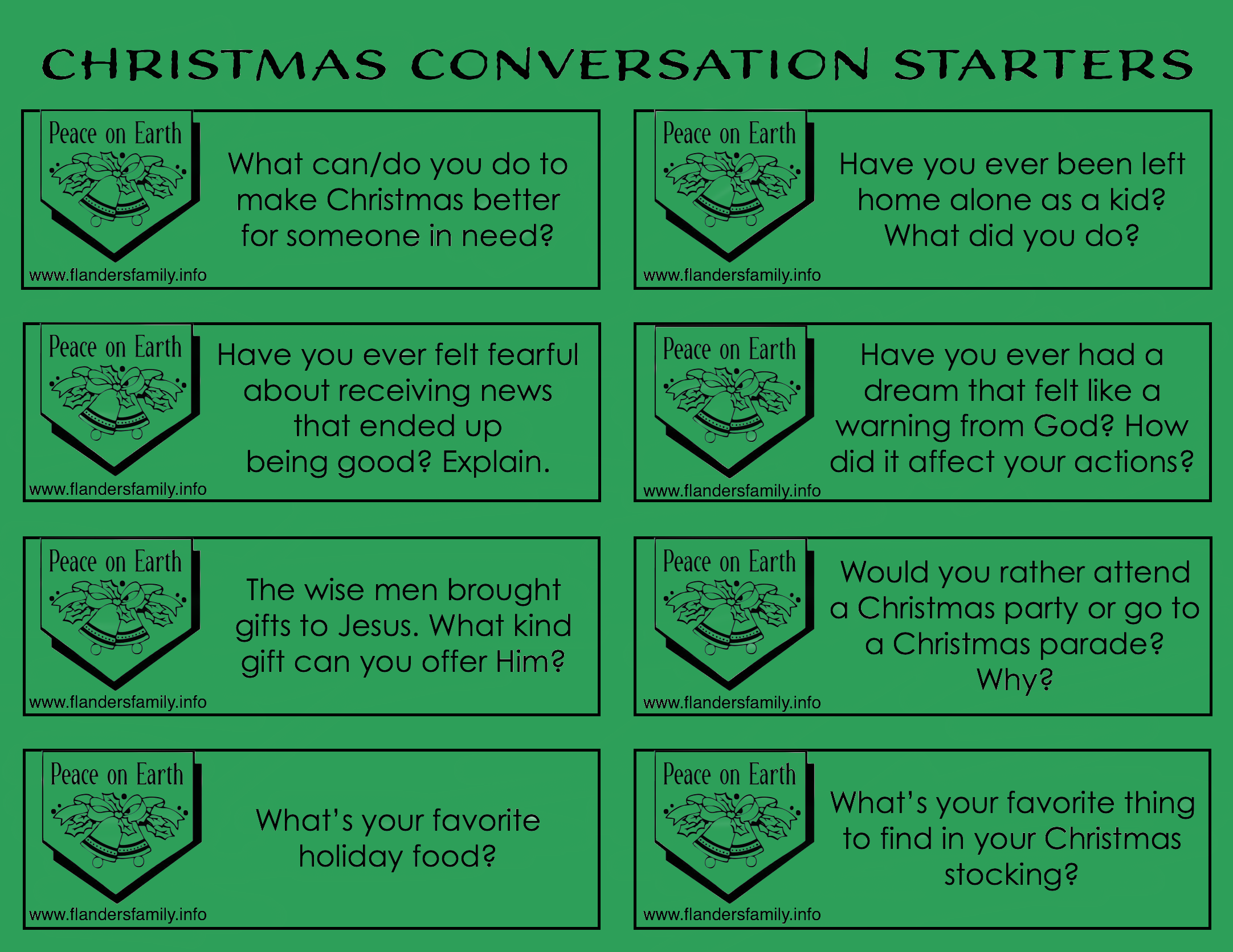 Free Holiday-Themed Discussion Prompts