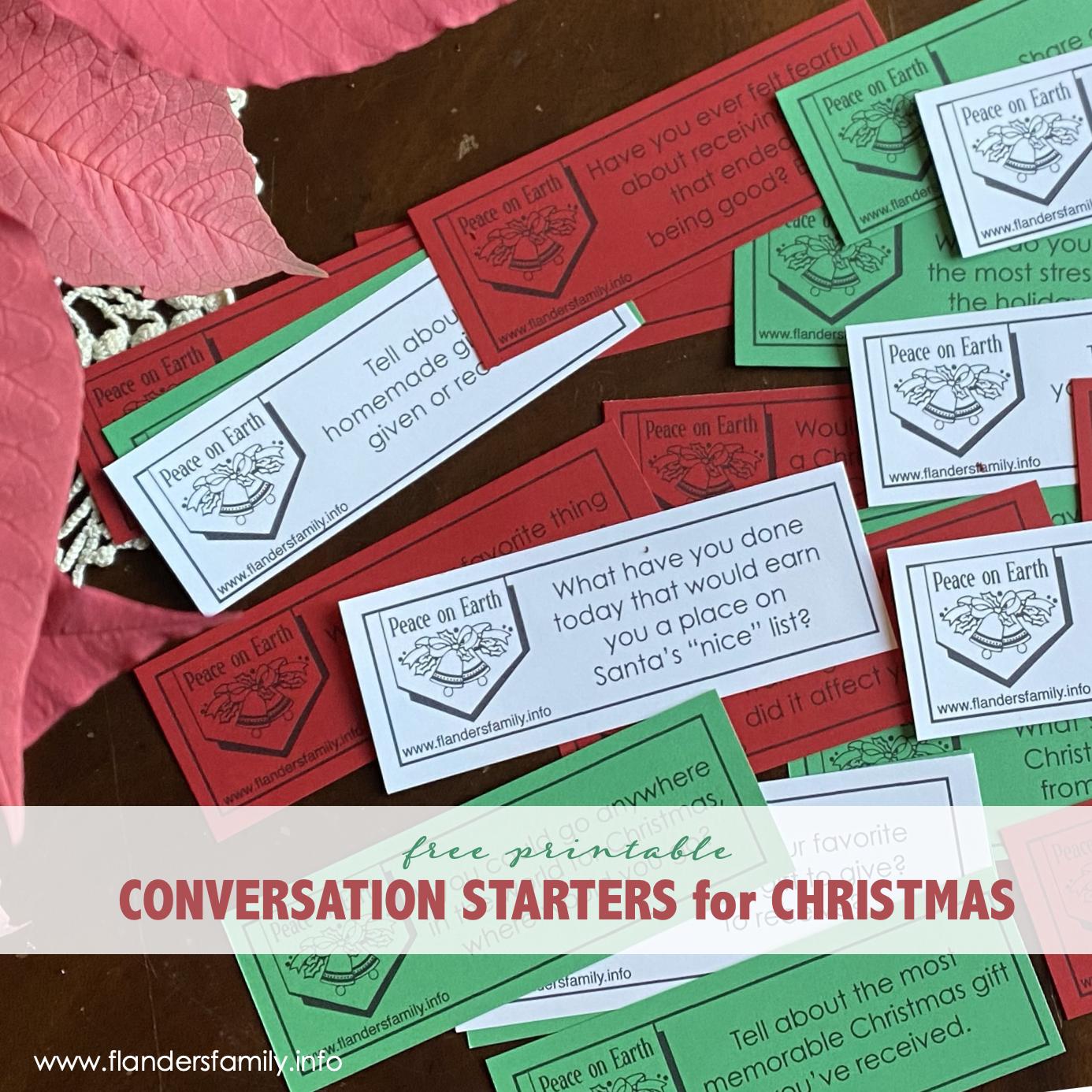 Christmas Conversation Starters