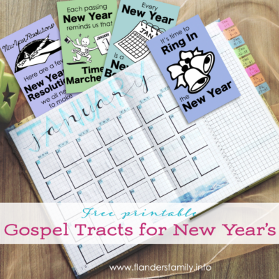 New Year's Gospel Tracts
