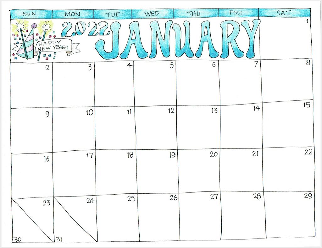Hand-drawn January