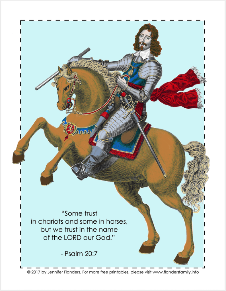 Chariots and Horses Coloring Page