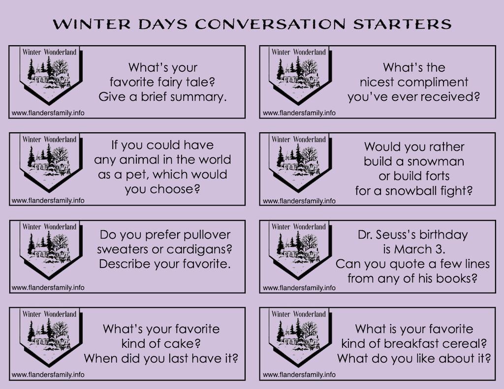 Conversation Starters for Winter Days
