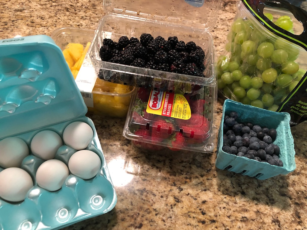 eggs and fruit