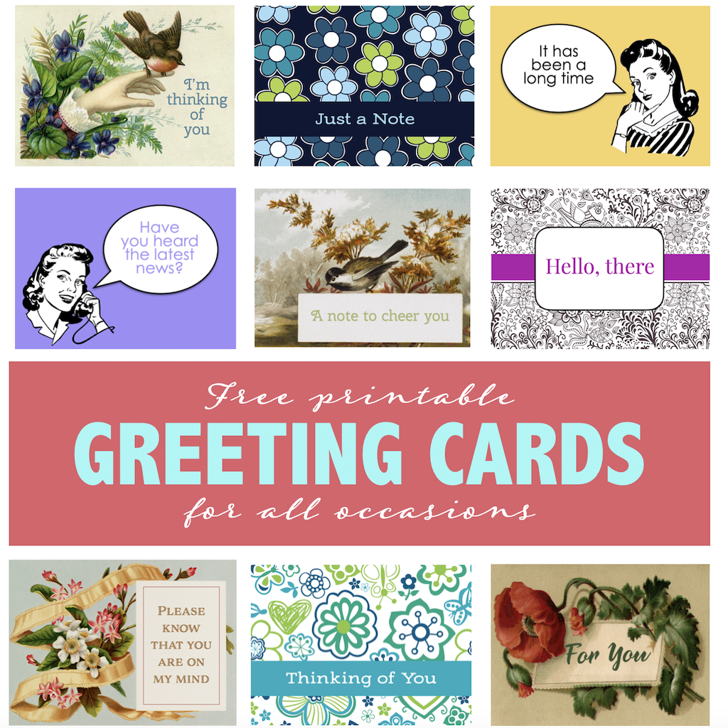 Free Printable All Occasion Greeting Cards