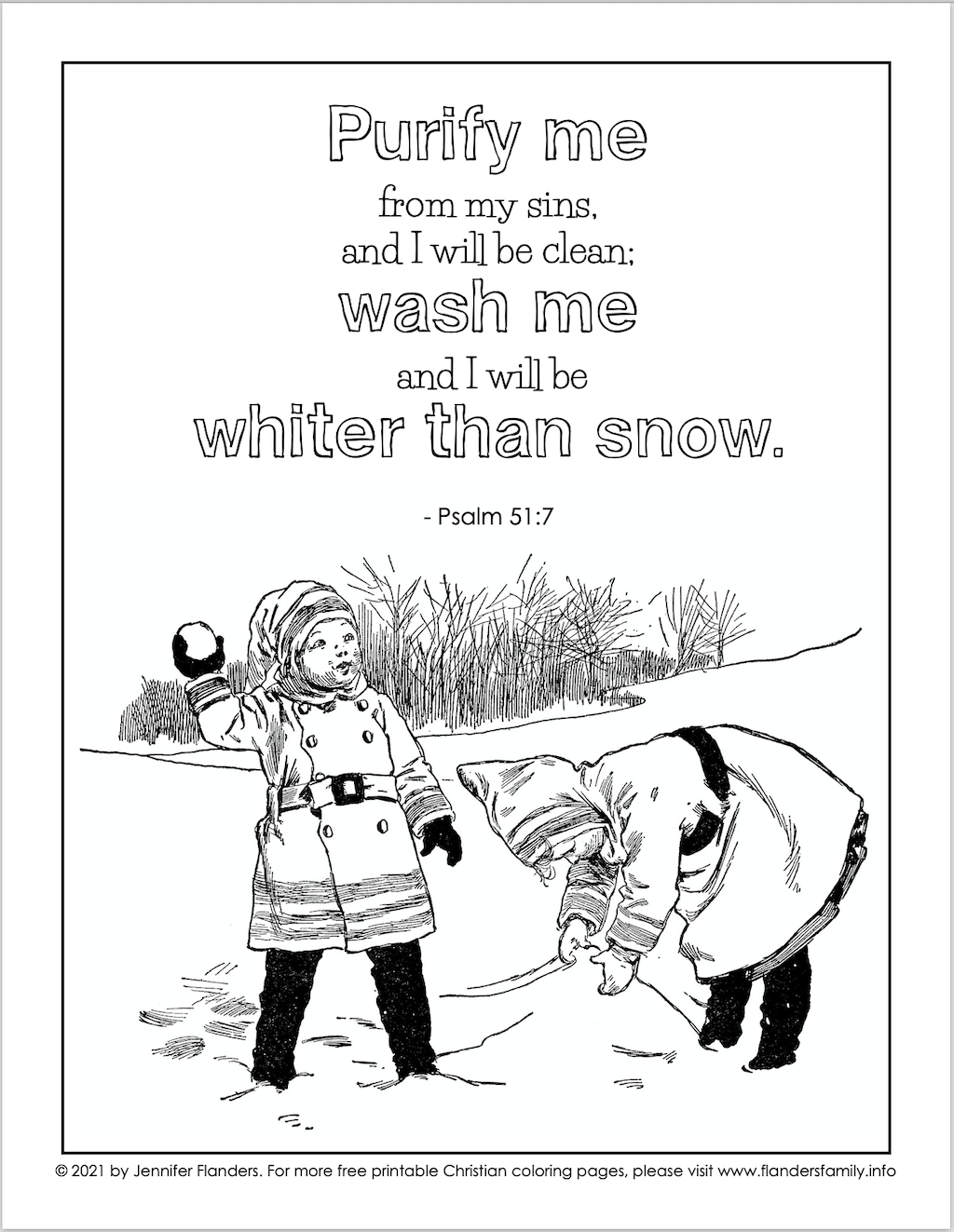 Whiter than Snow Coloring Page