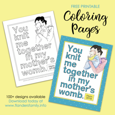 You Knit Me Together Coloring Page