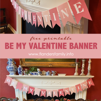 Be My Valentine Pennant Banner (Free Printable)