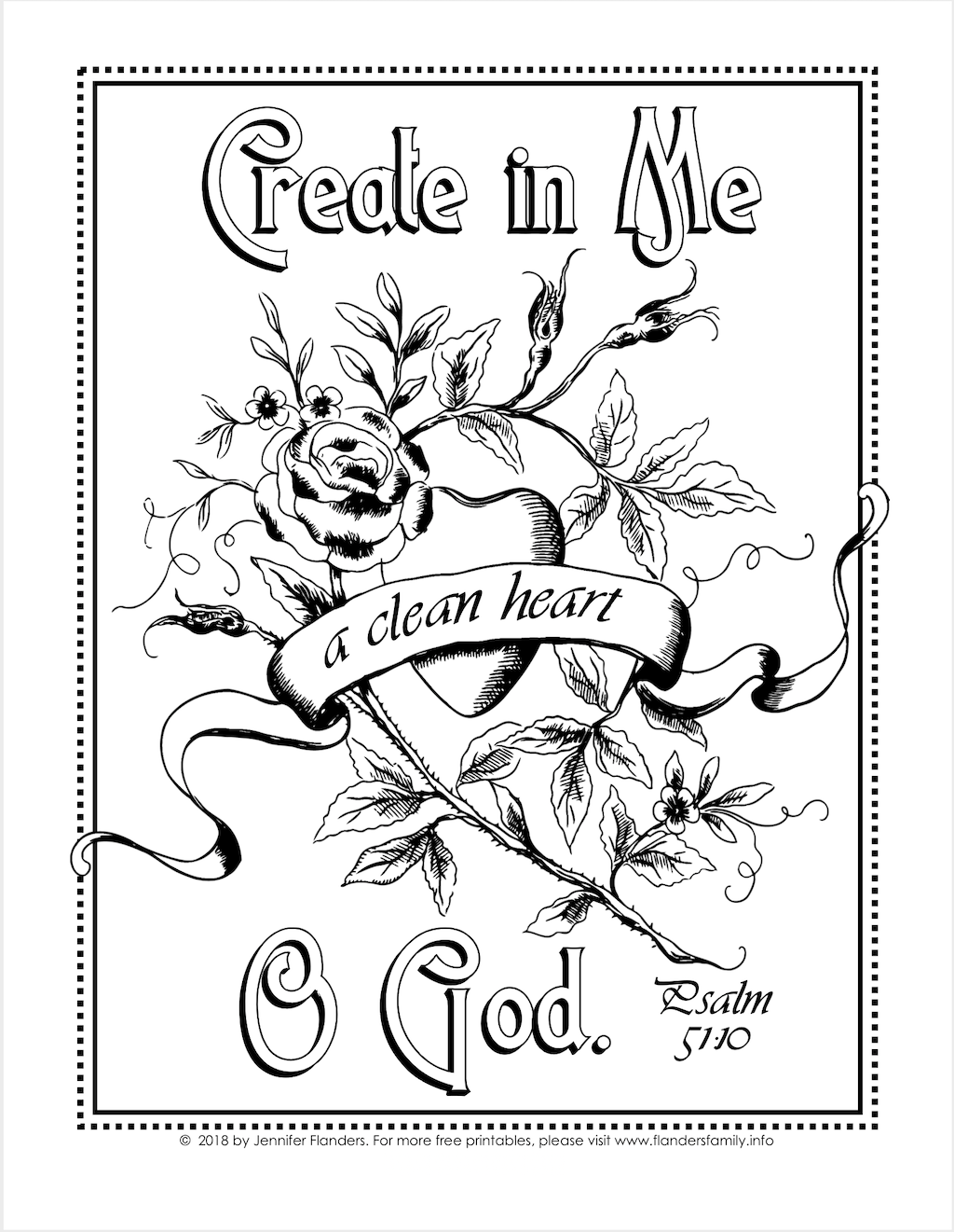 A Clean Heart Coloring Page