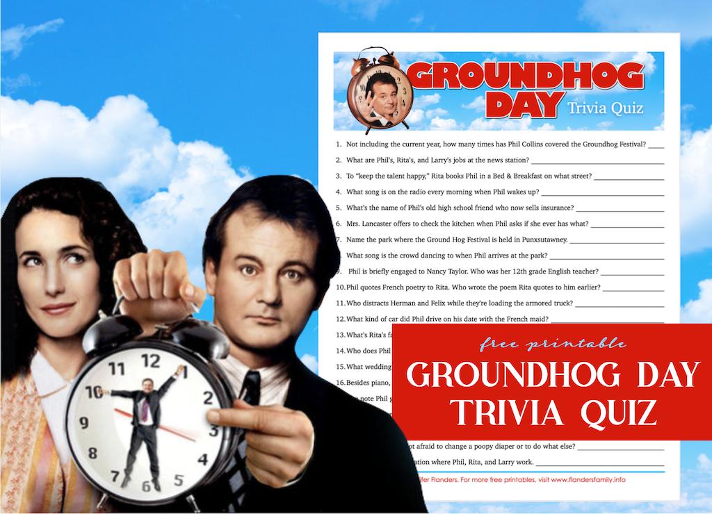 Groundhog Day Movie Trivia Quiz