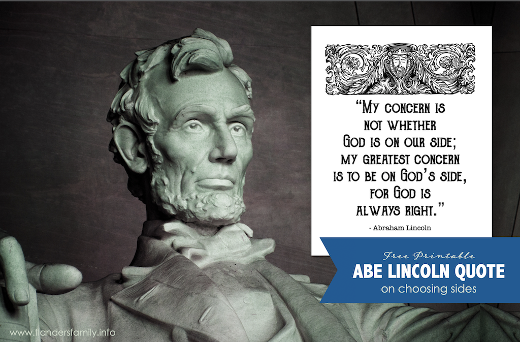 Lincoln on Choosing Sides
