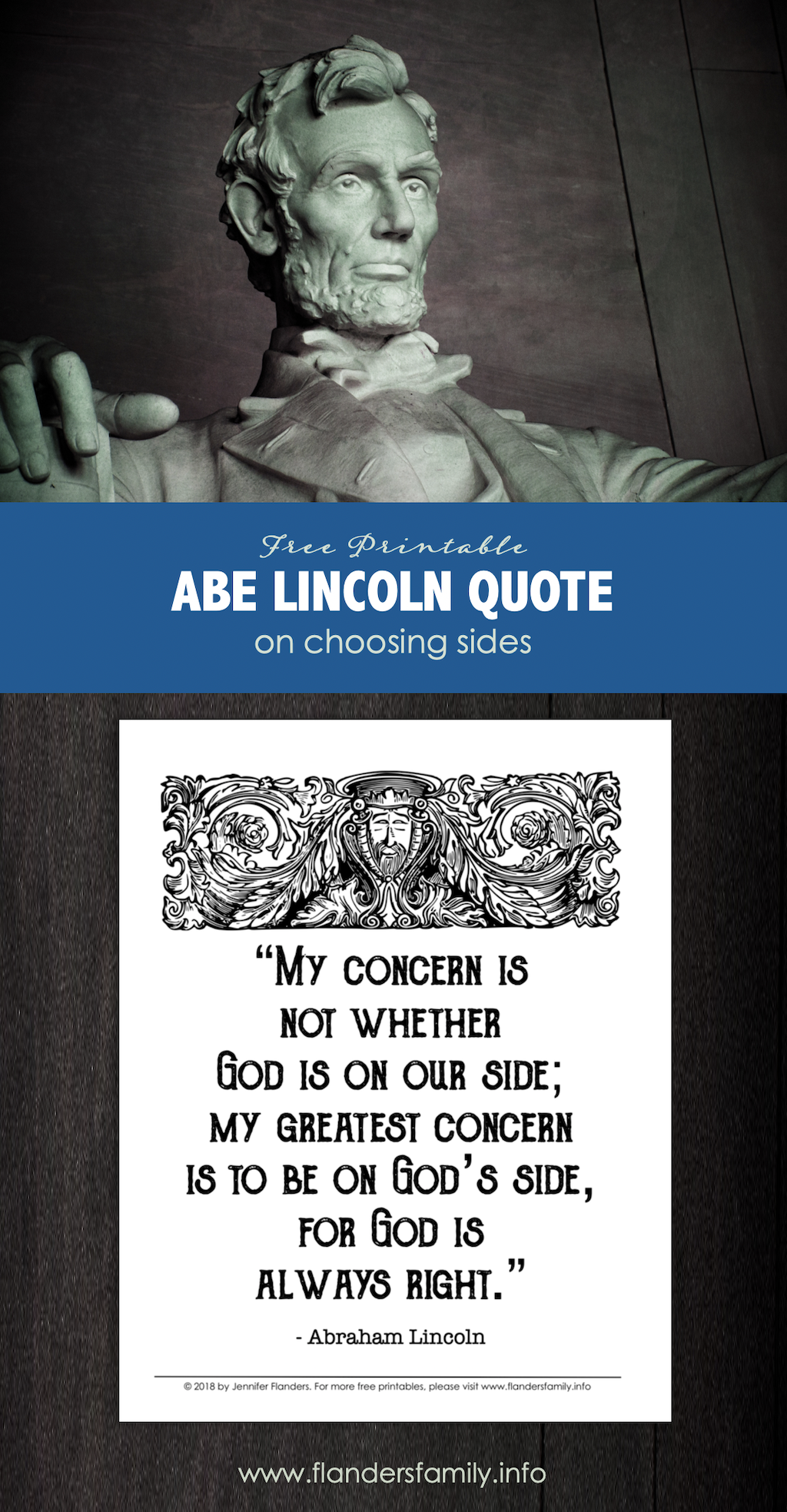 Abraham Lincoln on Choosing Sides
