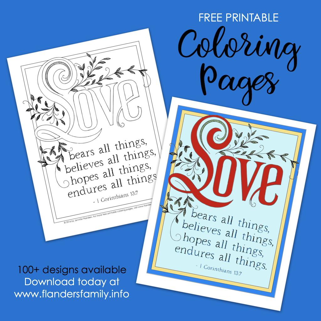 Love Bears All Things Coloring Page