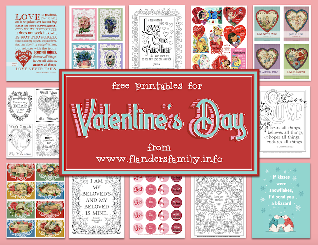 February Holidays - Valentine Printables
