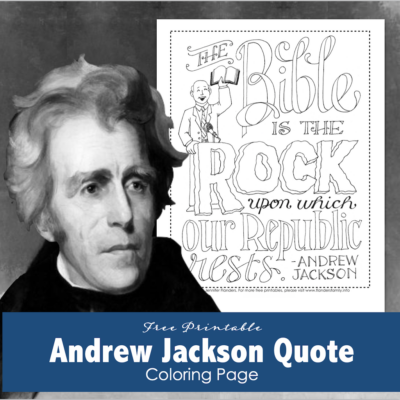 Andrew Jackson Quote Coloring Page