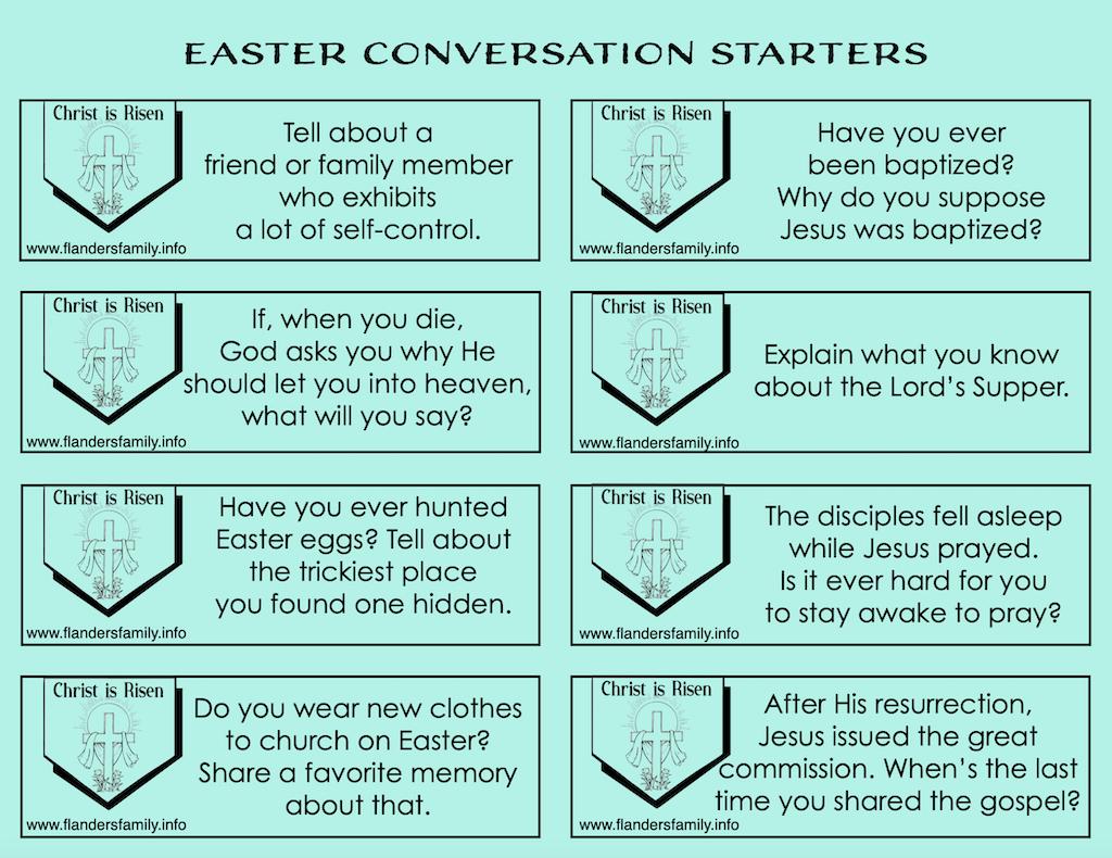 Easter Conversation Starters