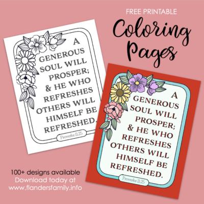 Generous Souls Prosper Coloring Page