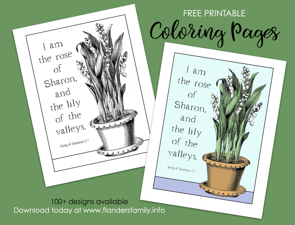 Lily of the Valley Coloring Page